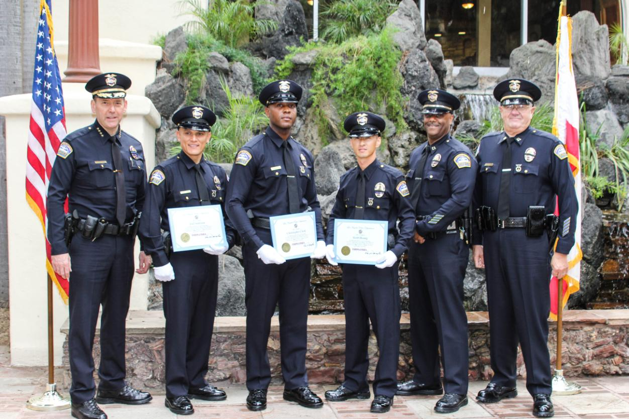 Chief of Airport Police David L. Maggard Jr., Officers Joel Santana, Christopher Claddy, Scott Hoang, Captain Tyrone Stallings, Captain Gregg Staar